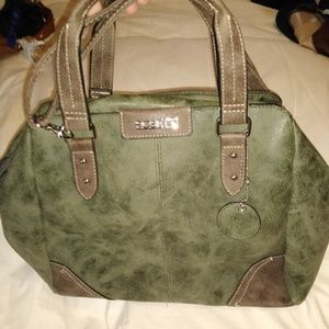 Green and tan soft  suede made by Rossetti